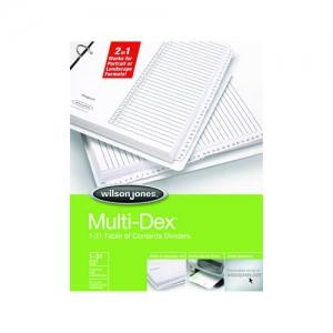 templates wilson jones 8 tabs - wilson jones multidex dividers 1 31 tab index white tabs