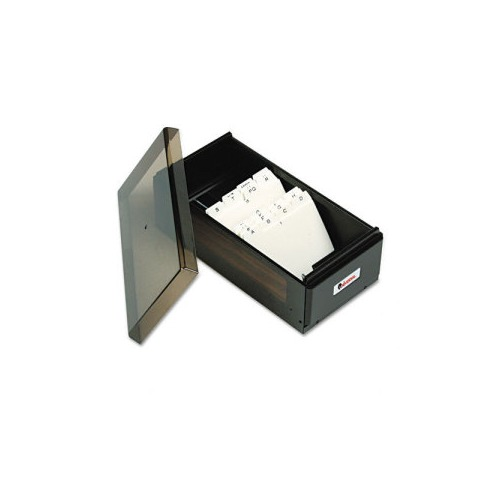Universal Business Card File Box w Lid Holds 600 2 1 4 x 4