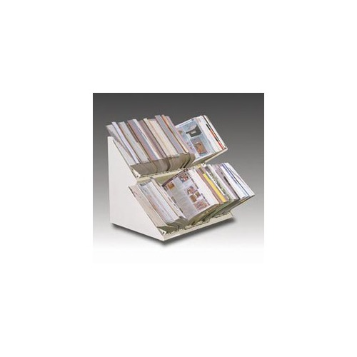 Master products Double-Deck Countertop Catalog Rack - MATDD36G ...
